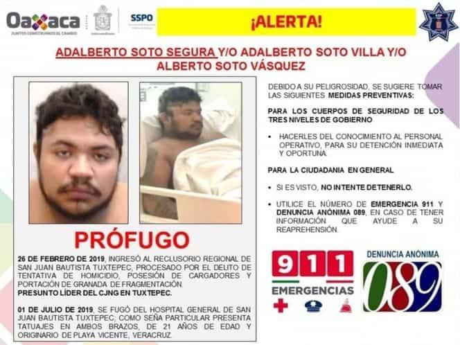 Photo of Se fuga líder del CJNG de hospital en Oaxaca