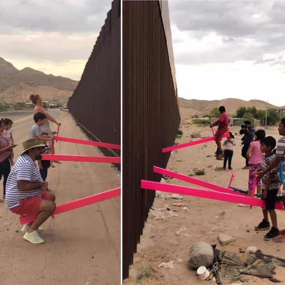 """Photo of FOTOS: Con """"sube y baja"""" borran la frontera"""