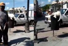 Photo of Hombre le corta la cola a perrito que buscaba comida en un bote de basura