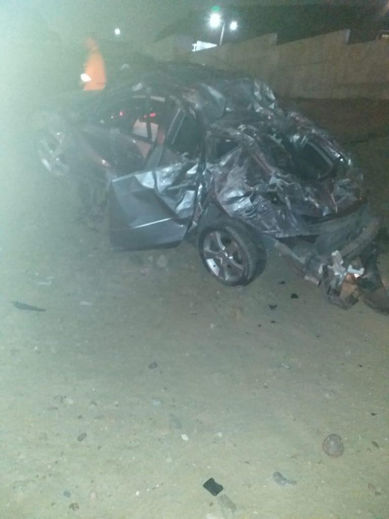 Accidente de auto en Playas de Tijuana