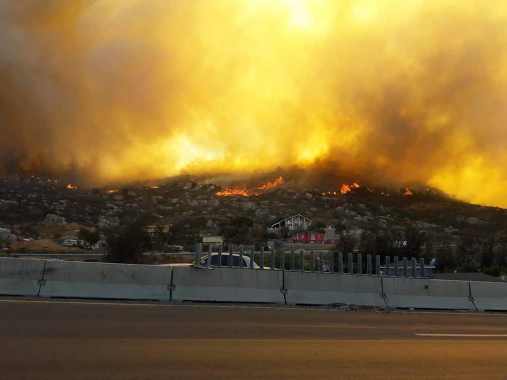 Histórica la devastación por los incendios en Baja California