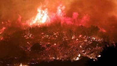 Photo of Desalojan a miles por incendio en California