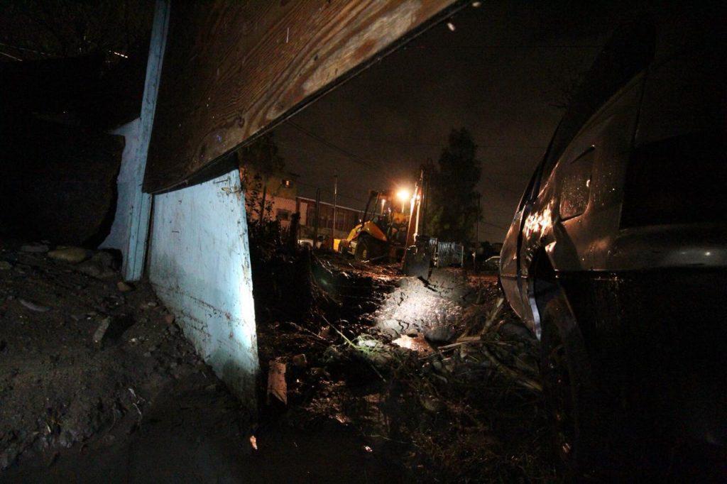 Viviendas sufren inundación en Tijuana