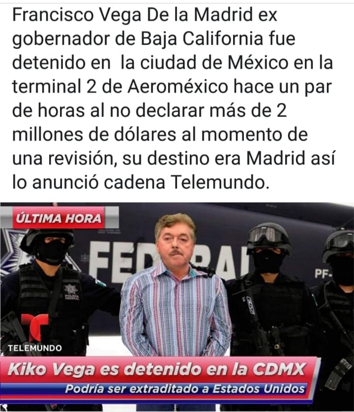 ¿Arrestaron o no a Kiko Vega?
