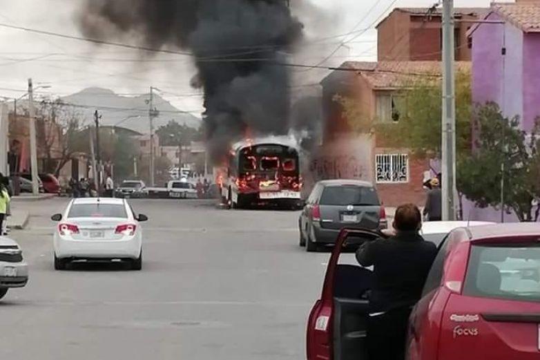 Prendieron fuego a camiones con trabajadores de maquiladoras