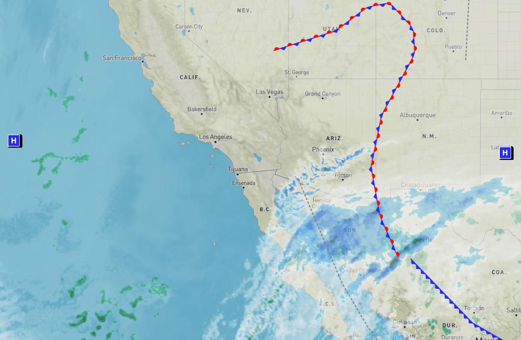 Pronostico del tiempo y clima para el fin de semana en Baja California