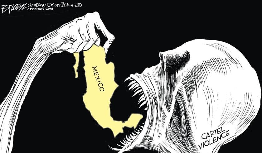 Muerte devora a México en portada del San Diego Union Tribune