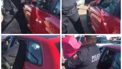 Photo of Dejan a niña encerrada en auto, la sacan con 'cristalazo'