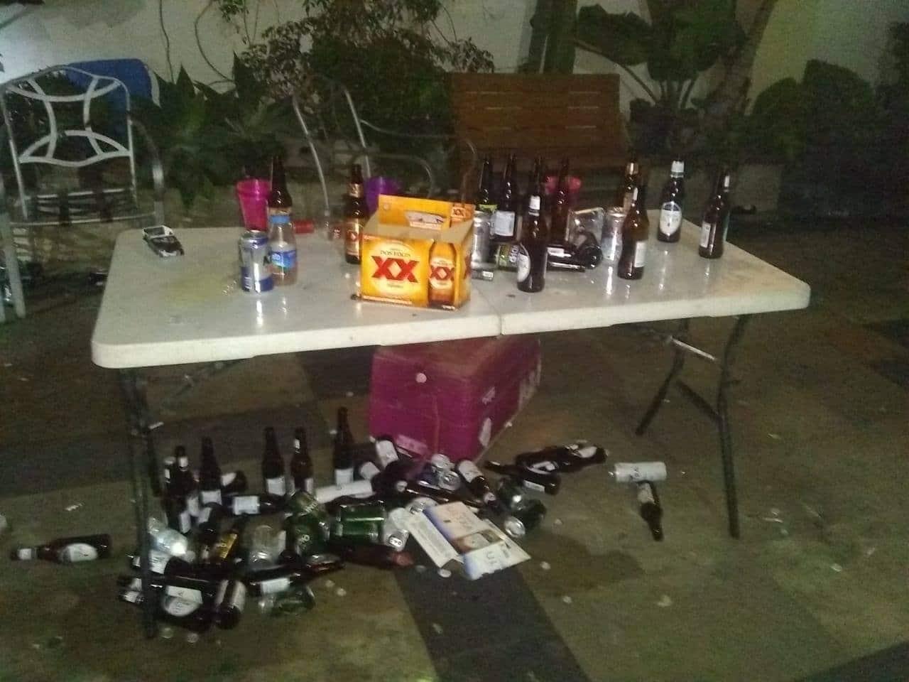 Hallan menores, alcohol y marihuana en fiesta clandestina