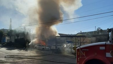 Photo of Se incendia local de venta de autos usados