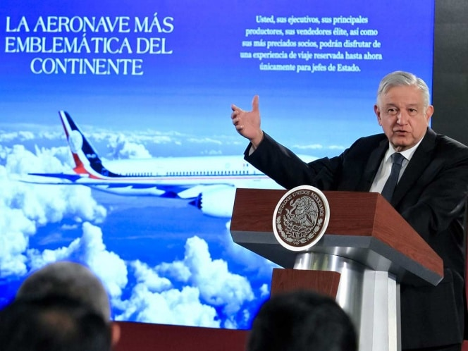 rifa avion presidencial