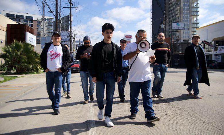 Photo of Hombres marchan contra la violencia hacia las mujeres