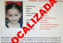 Photo of Localizan a Amy Nicole de 7 años