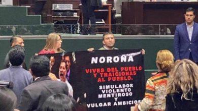 Photo of Ex pareja de Noroña lo acusa de violento y corrupto en plena sesión