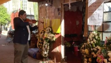 Photo of Violinista acudió a despedir a Fátima con música