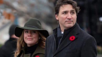 Photo of Justin Trudeau y su esposa Sophie en cuarentena