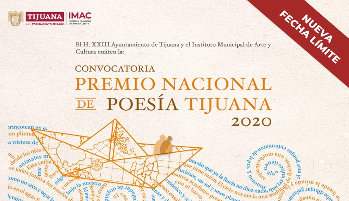 IMAC amplía fecha para participar en Premio Nacional de Poesía Tijuana