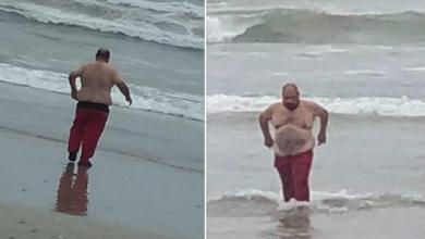 Photo of Funcionario se mete a la playa a pesar de restricciones