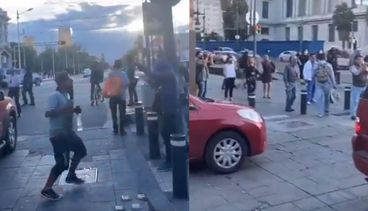 VIDEO-La-Chona-lo-hace-de-nuevo-se-arma-baile-en-semáforo