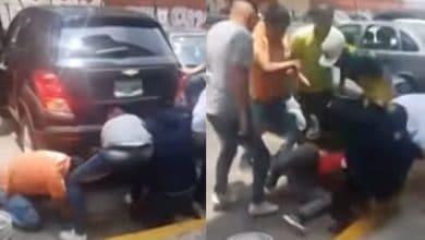 Photo of VIDEO: Dan golpiza a supuesto ladrón; 'Te va a ir como al de la combi'