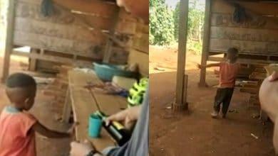 Photo of VIDEO: Emborrachan a niño de 4 años y se burlan de él