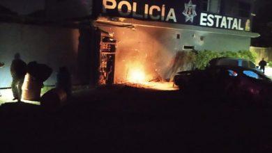 Photo of Explota automóvil afuera de base policial
