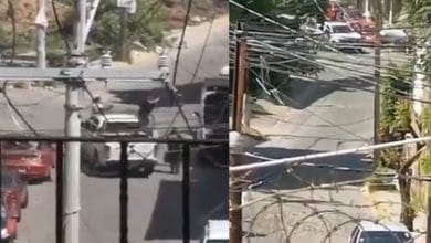 VIDEO-Balacera-entre-policías-y-presuntos-extorsionadores