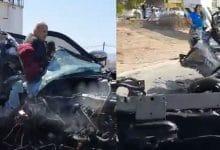 Photo of VIDEO: 'Choquezazo' entre una camioneta y unidad pesada