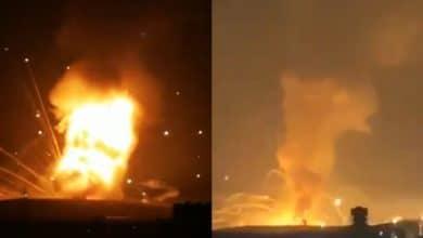 Photo of VIDEO: Potente explosión en depósito de bombas en base militar