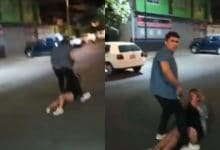 Photo of VIDEO: Le da golpiza a mujer en plena vía pública