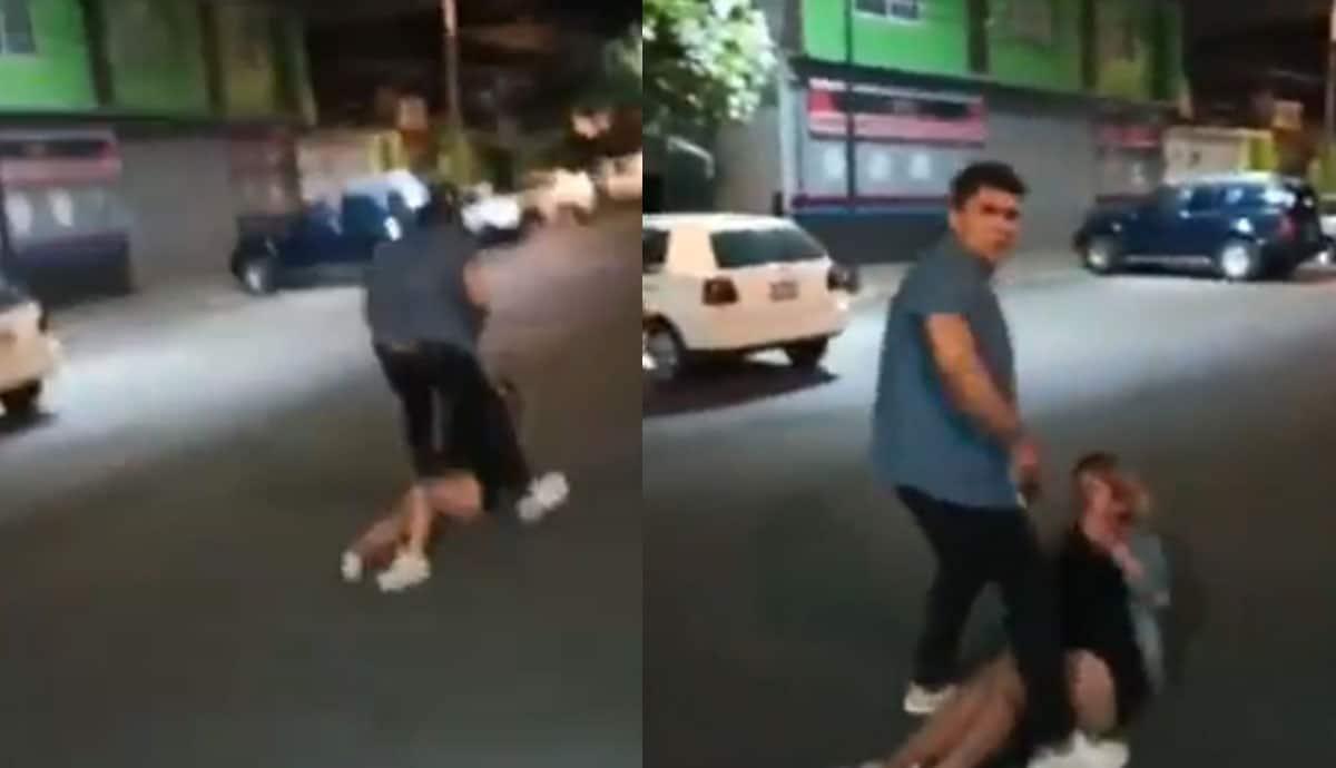 VIDEO-Le-da-golpiza-a-mujer-en-vía-pública