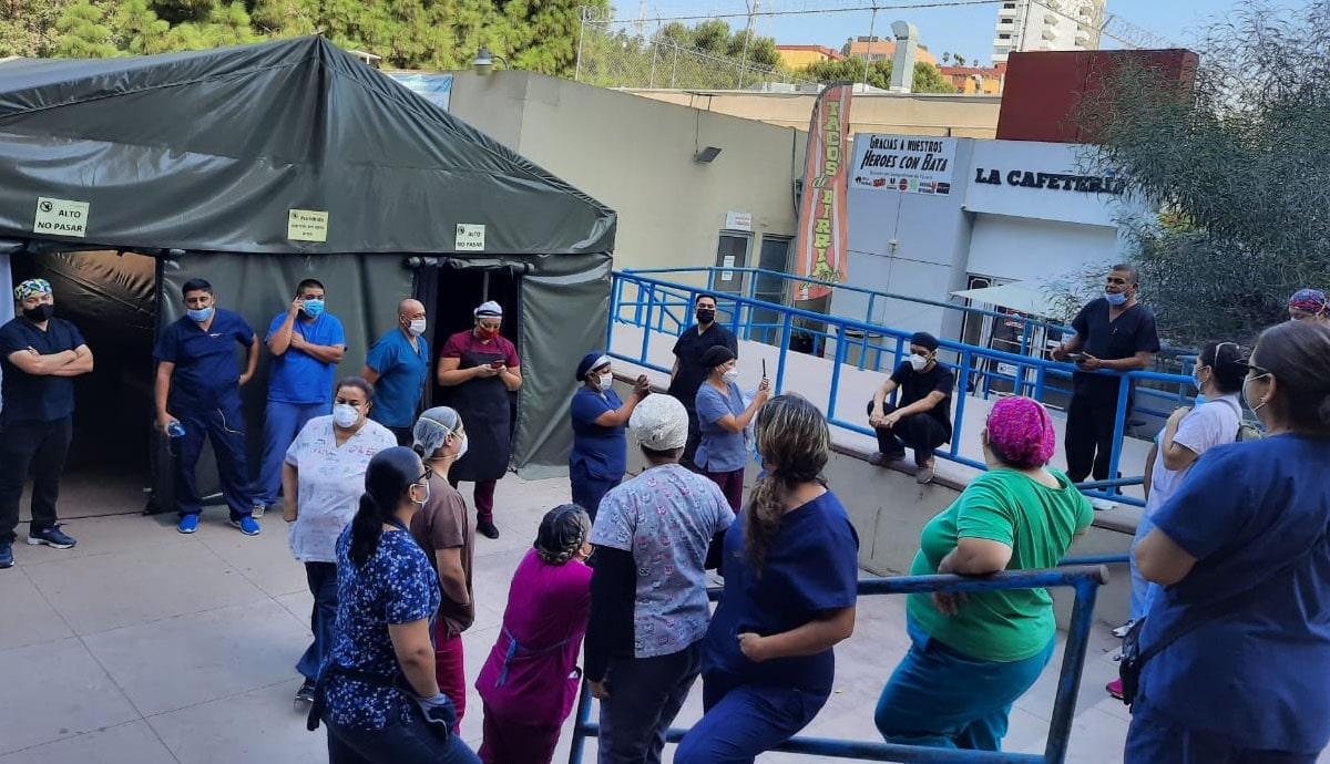 Trabajadores-de-la-salud-realizan-paro-en-Hospital-General-de-Tijuana