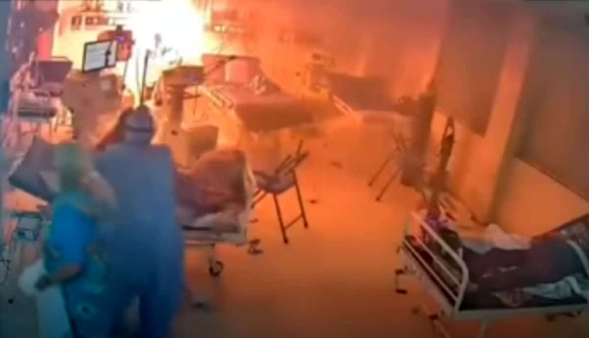 Explota ventilador para pacientes con Covid-19, causa incendio #VIDEO
