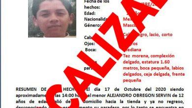 Photo of Localizan a Alejandro Obregón de 12 años