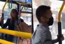 Photo of VIDEO: Sin cubrebocas le escupe a joven en camión; así reaccionó él