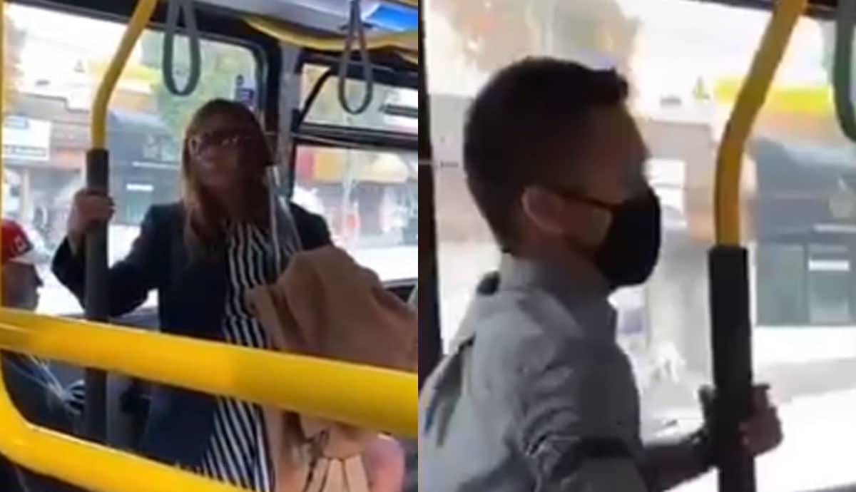 VIDEO-Sin-cubrebocas-le-escupe-a-joven-en-camión-así-reaccionó-él