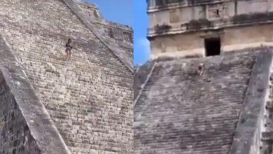 VIDEO-#LadyKukulkán-esparce-cenizas-de-su-esposo-en-Chichén-Itzá