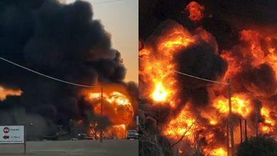 VIDEO-Mega-explosión-tras-choque-de-tren-con-combustible