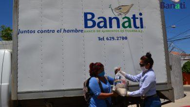 Entrega de despensas realizadas por Banati, con el objetivo de acabar con el hambre