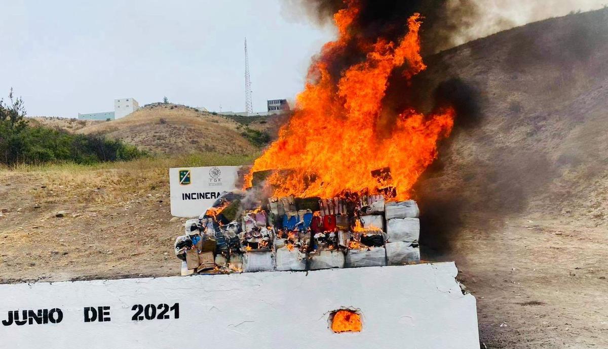 Incineran-más-de-cinco-toneladas-de-narcóticos