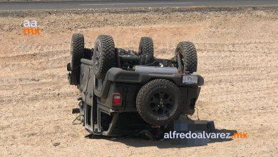 Fallece-automovilist-tras-volcadura-hay-2-menores-lesionados