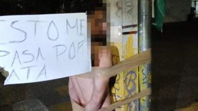 Vecinos-capturan-a-ladrón-y-le-dan-latigazos